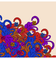 Colorful abstract border floral frame vector image