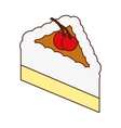 delicious sweet cake portion vector image