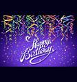 happy birthday celebration design colorful vector image