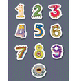 Number stickers vector image