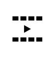play icon black vector image
