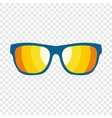 Sunglasses flat icon vector image