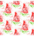 watermelon slice seamless pattern with splashes vector image