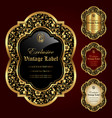luxury ornamental gold-framed labels vector image