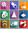 Icons toys vector image