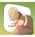 grandfather and grandchild vector image