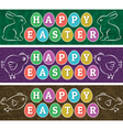 Greetings web banners for Easter Day vector image