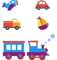 toy transportation set vector image vector image