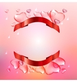 Banner hearts background vector image