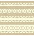Vintage straight lace on linen canvas background vector image