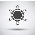 Conversation table icon vector image