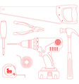 Repair Tool Set vector image