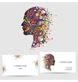 icon design element business card template vector image