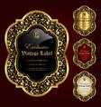 luxury ornamental gold-framed labels vector image