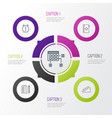management icons set collection of growth time vector image