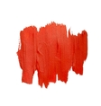 Red spot of brush strokes vector image