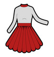 woman dress fashion vector image
