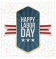 Happy Labor Day Text on Label vector image