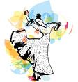 Flamenco woman dancer vector image vector image