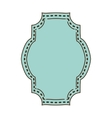 vintage frame icon with rectangular shape vector image