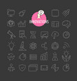 Different innovation icons collection web and vector image