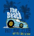 beach car vector image