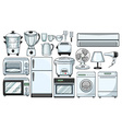 Electronic devices used in the kitchen vector image