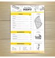 Vintage fast food menu design vector image