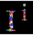 i letter vector image vector image