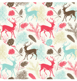 Deer Forest Pattern vector image