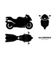black silhouette of motorcycle vector image