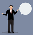 Businessman talking with body language vector image