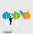 Businessman with infographics template and vector image