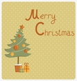 Card for christmas vector image