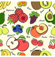 fruits seamless3 vector image