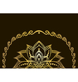 golden lotus flower vector image