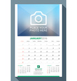 January 2016 Wall Monthly Calendar for 2016 Year vector image