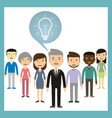 Leadership concept - different ideas from the vector image