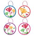 summer floral badges vector image