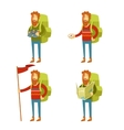 Tourist icons vector image