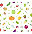 Vegetables seamless pattern Salad endless vector image