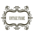 Vintage frame with embellishments vector image