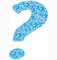 Icons question mark vector image vector image