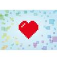 Digital heart vector image vector image