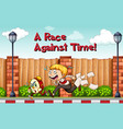 idiom poster for race agaist time vector image