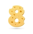 Eight cheese number vector image vector image