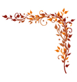 Leaves border autumn vector image vector image