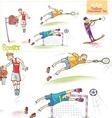 Cartoon Sports Characters Set vector image vector image