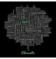 CLIMATE vector image vector image