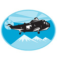 helicopter search and rescue vector image
